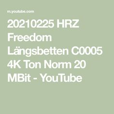 20210225 HRZ Freedom Längsbetten C0005 4K Ton Norm 20 MBit - YouTube Youtube, Freedom, Camping, Math Equations, Rv, Losing Weight, Liberty, Campsite, Political Freedom