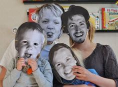 How much fun is this? Would be a great classroom/group project for young friends, as well as an awesome family portrait.