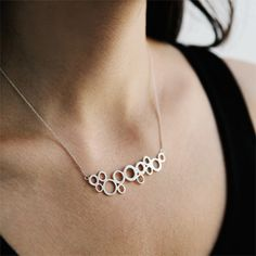 Sterling Silver Seafoam Necklace by KajsJewelry.com $120