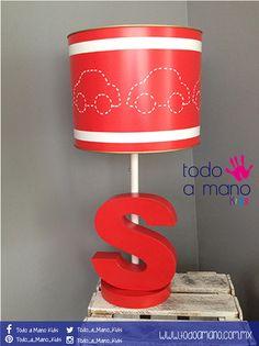 Dale un toque rojo a la hab. de tu peque! Lámpara 100% mexicana, hecha por artesanos.