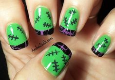 Amber did it!: Nail Craze with Dayze Guest Post ~ Halloween Nails Halloween Nail Designs, Halloween Nail Art, Halloween Ideas, Halloween 2019, Halloween Makeup, Halloween Costumes, Cute Nails, Pretty Nails, Funky Nails