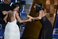 Why Regina King Calls Sisterhood Among Women In Hollywood 'Priceless' -  She talked about that adorable Emmy moment with Taraiji P. Henson.