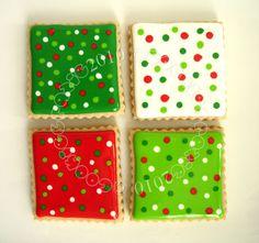 Polka Dot Christmas Sugar Cookies