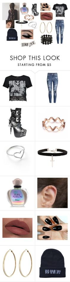 """outfit"" by potterheads-united ❤ liked on Polyvore featuring Boohoo, H&M, HADES, Jordan Askill, Vanessa Mooney, Christian Dior, LORAC and Eddie Borgo"