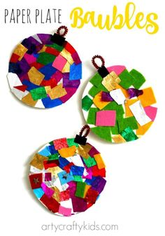 Arty Crafty Kids - Craft - Christmas Crafts for Kids - Paper Bowl . - Arty Crafty Kids – Craft – Christmas Crafts for Kids – Paper Ball # - Christmas Arts And Crafts, Christmas Themes, Holiday Crafts, Christmas Diy, Christmas Ornaments, Christmas Crafts Paper Plates, Toddler Christmas Crafts, Paper Ornaments, Rustic Christmas