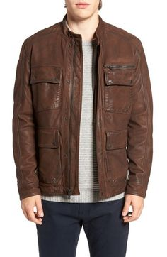 Lucky Brand Manx Leather Jacket available at #Nordstrom