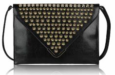Envelope with spikes Black and Nude www.somemore.fi