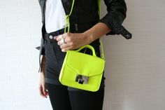 Neon bags are kind of my new obsession.