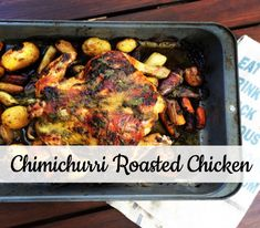 This chimichurri roasted chicken will not disappoint. Fodmap Recipes, Paleo Recipes, Dinner Recipes, Cooking Recipes, Crockpot Ideas, Chimichurri, Roasted Chicken, Creative Food, Whole30