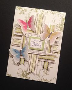 Shabby-Sweet Butterfly Birthday Card with Floral Anna Griffin Papers