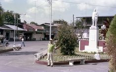 The town plaza of Pagsanjan, Laguna way back Jose Rizal, Manila, Philippines, 1970s, Cities, Drawings, Sketches, Drawing, Portrait
