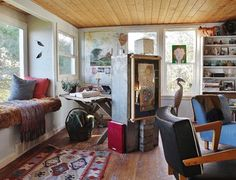 A Writer's Rooms With a Water View - eclectic - Living Room - Seattle - Kimberley Bryan