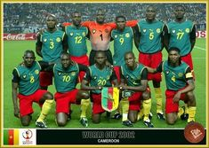 Cameroon team group at the 2002 World Cup Finals.