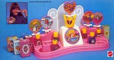 Barbie perfume maker! I loved this so much. I can still remember the scents..