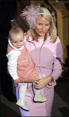 Crown Princess Mette Marit with daughter Princess Ingrid Alexandra of Norway