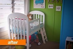Before  After: Crib to Lofted Toddler Bed Adriel Booker | Apartment Therapy