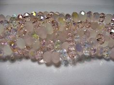 Crystal Beads Pink Cotton Candy Faceted by ExtremeBeadOverload, $3.75