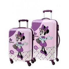 Juego Maletas Minnie Glam + Regalo Sandwichera Minnie