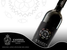 SOLIANU Linea vini pianure del sole. Studio grafica etichette Cantina della Vernaccia. © KLS