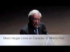 Literature Nobel Prize Mario Vargas Llosa talks in Caracas about Venezue...