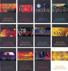 "Left Behind Series - Christian Fiction based on the book of Revelation. AWESOME if you can get through all 13 books! And if you still want more they have 3 books that tell before they were ""Left Behind"""