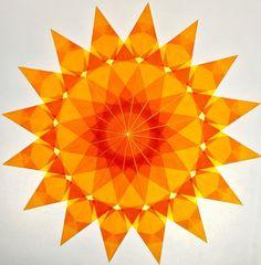 Golden Yellow Window Star #18
