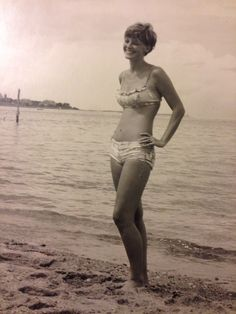 My mother on the Vineyard.
