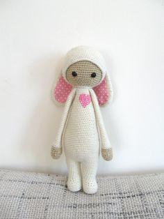 Rita the bunny 27 cm high, crochet doll from a Lalylala's pattern Crochet Patterns Amigurumi, Amigurumi Doll, Crochet Toys, Knit Crochet, Crochet Dollies, Crochet Bunny, Love Crochet, Easy Crochet Patterns, Doll Patterns
