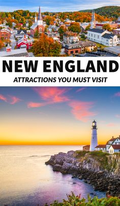 New England road trip, New England fall, Things to do in New England, New England summer, New England itinerary, New England route, New England weekend getaways, places to visit in New England, one week in New England, 4 days in New England, New England small towns, Boston, Maine #NewEngland #TravelGuides #TravelTips New England States, New England Fall, New England Travel, East Coast Road Trip, Us Road Trip, Usa Travel Guide, Travel Usa, Beach Travel, Travel Tips