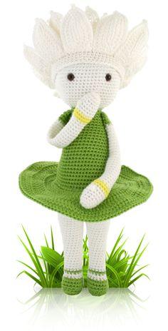 Waterlily Winnie - crochet amigurumi pattern by Zabbez / Bas den Braver