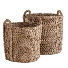 W7031Seagrass Basket Set Storage