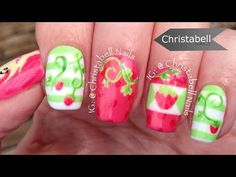 Nail art japanese geisha newspaper nails cherry blossom nail christabellnails strawberry shortcake nail art tutorial youtube prinsesfo Image collections
