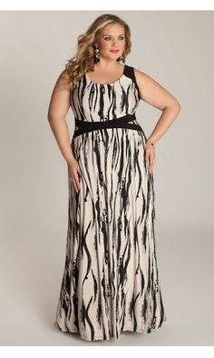 Novella Maxi Dress http://www.curvety.com/dresses-c1/maxi-dresses-c6/igigi-by-yuliya-raquel-novella-plus-size-maxi-dress-in-black-multi-p324