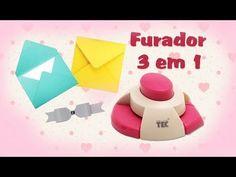 furador 3 em 1 - Laços de Papel - Envelope e Arredondador de canto - YouTube