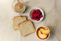 sweet miscellany: Almond Butter, Peach, & Raspberry Panini