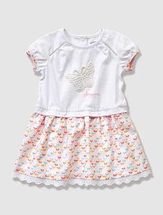 Vestido bimatéria, para bebé