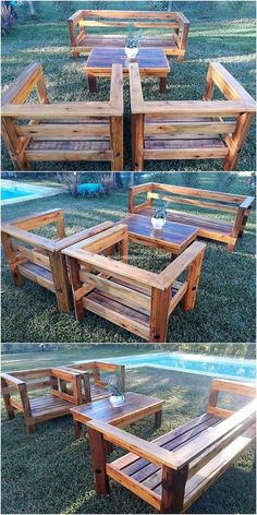 Amazing Uses for Old Wood Pallets in the Home – Wooden Pallet Ideas This is quite a cool design of garden furniture piece that is artistically designed with the use of wood pallet within it. This stylish looking furniture design… Continue Reading → Pallet Garden Furniture, Diy Outdoor Furniture, Furniture Chairs, Outdoor Couch, Furniture Ideas, Furniture Stores, Diy Wood Furniture Projects, Garden Furniture Design, Indian Furniture