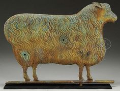 FULL BODIED COPPER EWE WEATHERVANE. 2nd quarter 20th century.