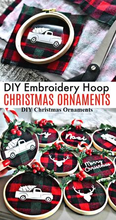"""DIY Embroidery Hoop Christmas Ornaments These beautiful and simple DIY embroidery hoop Christmas ornaments are so darned fun. Make these at a fun craft night with friends!""""},""""did_its"""":[],""""description"""":""""DIY Embroidery Hoop Christmas Ornaments Christmas Crafts To Make, Diy Christmas Ornaments, Homemade Christmas, Christmas Projects, Holiday Crafts, Christmas Wreaths, White Christmas, Christmas Tree, Simple Christmas"""