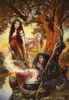Hekate – From Crone-ing and Rebirth Dark Fantasy Art, Fantasy Books, Hecate Goddess, Goddess Art, Wicca Witchcraft, Magick, Pagan Art, Les Religions, Triple Goddess