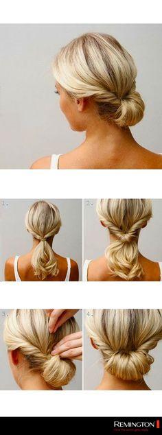 Recoge tu cabello de una forma linda y sencilla. De esta forma obtendrás un peinado práctico y súper chic. #hair #hairstyle #DIY #easy