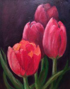 Tulips - 11x14 - Oil on canvas panel-Unframed