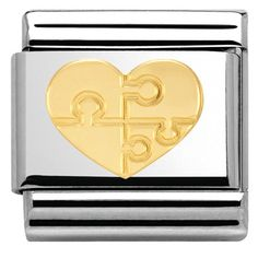 Nomination Steel and Gold Love Heart Charm 030116 11 Nomination Charms, Nomination Bracelet, Valentine Day Gifts, Valentines, Carat Gold, Love Heart, Heart Charm, Link, Initials