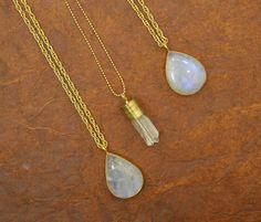 MOONSTONE & QUARTZ #necklaces #gems #hippie #festival #fashion