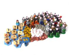 Catan Deluxe Token Set for Cities and Knights by epicycledesigns,