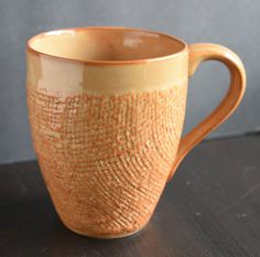 Perfect to set the scene for a crafter or knitter. This lovely perfect condition woven texture mug is Craft brand with a thin lip and graceful curve of a handle. Payment  I accept Paypal, credit cards through direct checkout, Etsy gift cards & money orders. Payment with money orders due within 7 days. If you need extra time for some reason, please contact me. I can be flexible, but only if I hear from you! **All purchases within the state of WA will be charged sales tax**  Shipping I ship…