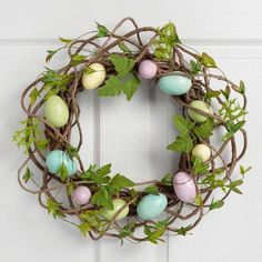 One of my favorite discoveries at WorldMarket.com: Pastel Egg Wreath