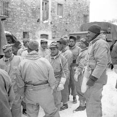 Troopers of The Ontario Regiment moving forward, Atessa, Italy, February 21st 1944.