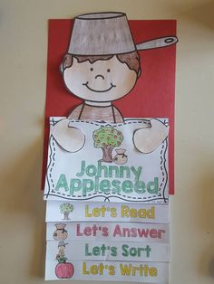 Johnny Appleseed activity reading craftivity- hands on activities for reading, writing, and comprehension