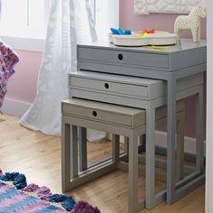 Grey Melrose Nesting Tables – Set of 3 | Serena & Lily
